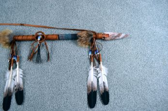 Leo Holiday rawhide wrapped Spear