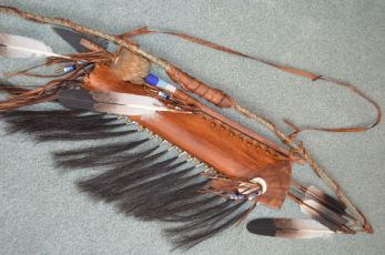 Rattle snake skin Bow quiver Tomahawk Combo